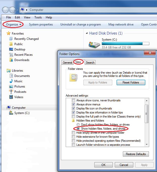 Windows 7 shared folders not updating