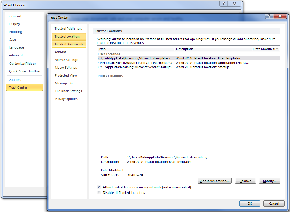 Office 2010 Protected View using a VPN client   LAN-Tech Network ...