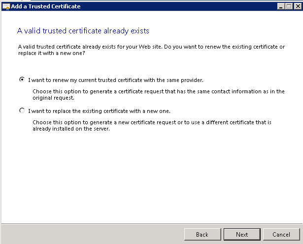 SBS 2008/2011 Renew 3rd party Certificate | LAN-Tech Network Management