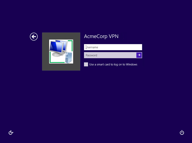 Windows 8 connect to VPN before logon | LAN-Tech Network Management
