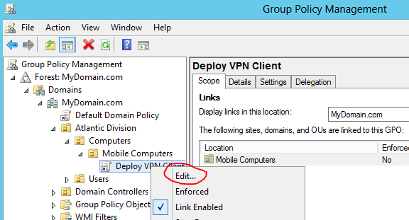 VPN Group policy preferences | LAN-Tech Network Management